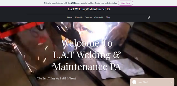 L.A.T Welding & Maintenance website image