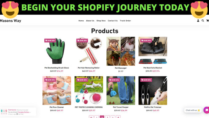 Shopify Ecommerce Website (Design and Development)