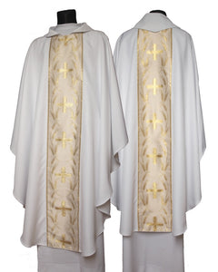 White with Gold Chasuble with matching stole