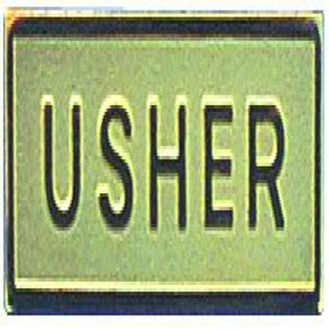 Gold Usher Badge -