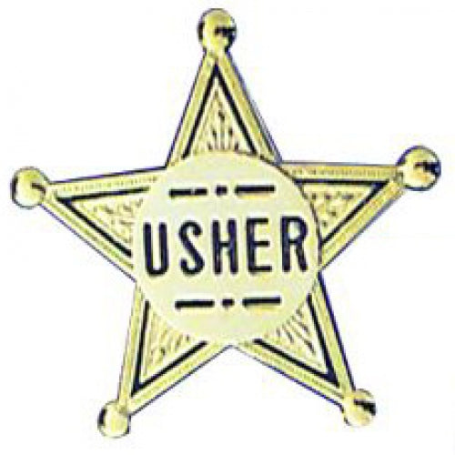 Gold Star Usher  Badge