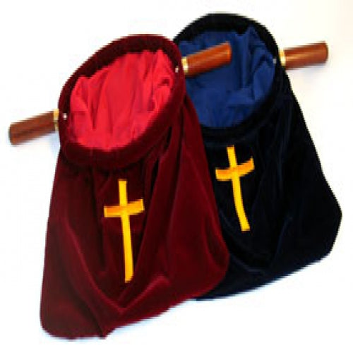 Red Large Offering Bag  with Cross