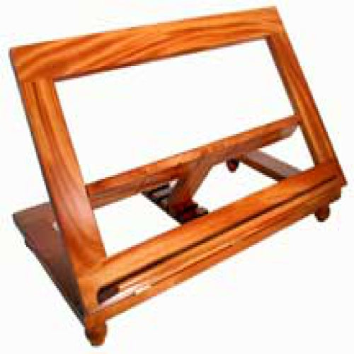 Large Adjustable Book Stand - Natural Finish.