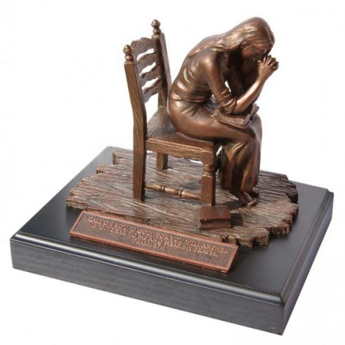 Moments Of Faith Sculpture - Praying Woman - 6' - Base 5.5' X 7.25'