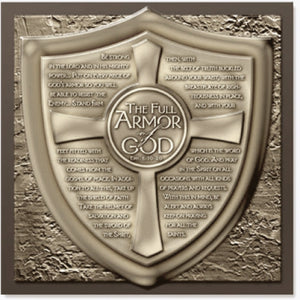 Moments Of Faith - Sculpture Plaque - Full Armour Of God - 8.75In X 8.75In
