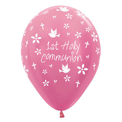 Pink  First Communion Balloons 6