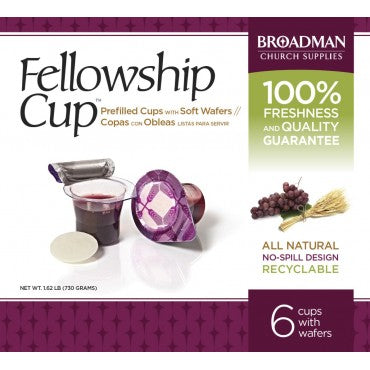Prefilled fellowship Communion wine and Wafer 6