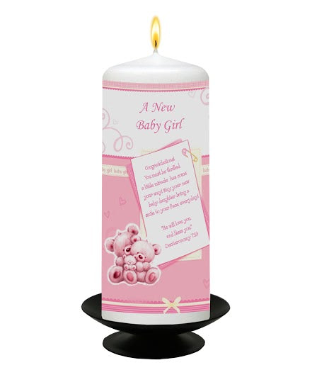 Inspirational Candle - A New Baby Girl - Deut 7:13