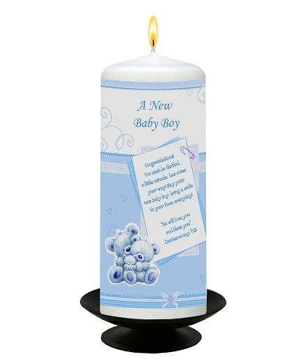 Inspirational Candle - A New Baby Boy - Deut 7:13