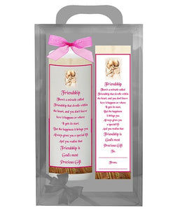 Inspirational Candle with Bookmarker - Friendship