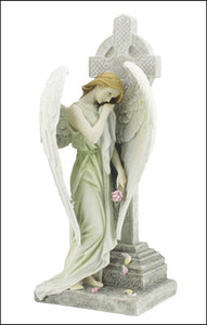 "Veronese Resin Statue 12"" Angel/Cross"