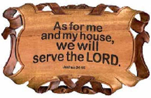 Scroll Plaque - As For Me And My House 7inx 11in
