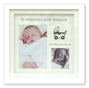 Baptism Photo Frame White Finish