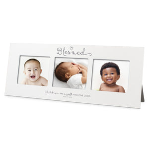 Photo Frame - Multi Panel - Blessed Baby - 16 In X 6.5 - Psalm 127:3