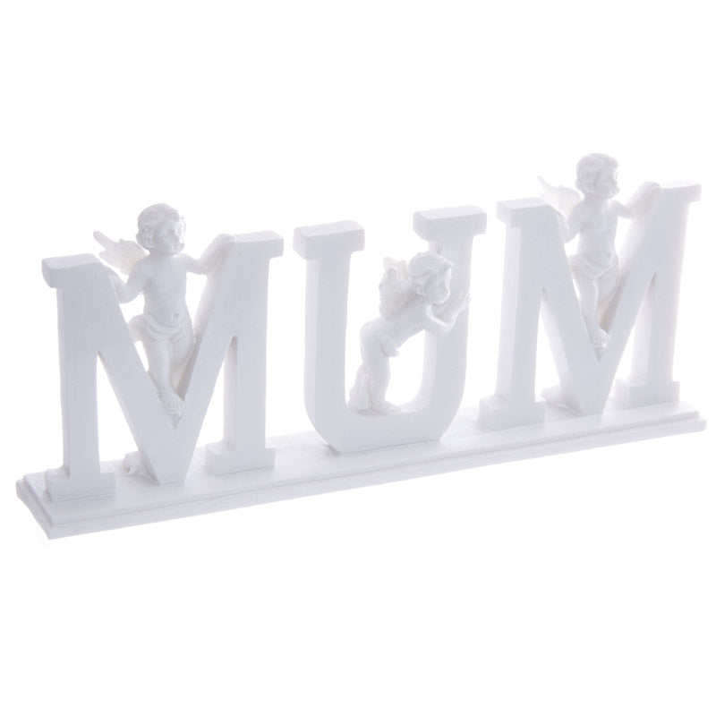 CHE60E - MUM Cherub Letters on Plinth