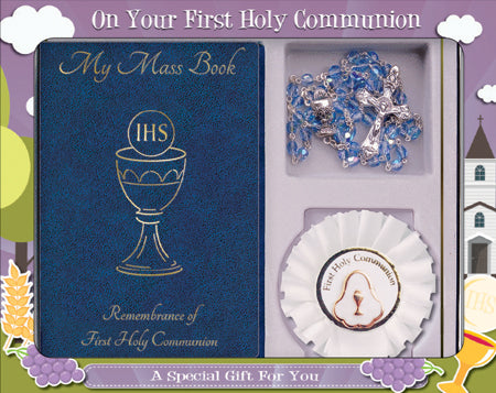 First Communion Gift Set Blue