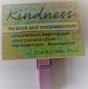 Kindness  Peg Fridge Magnet