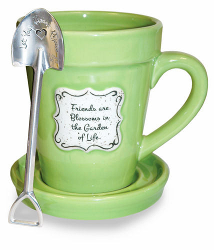 Flower Pot Mug: Friends - Green