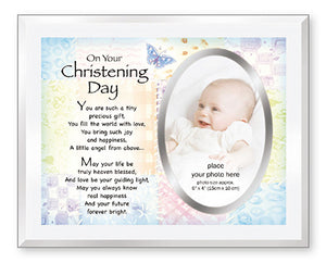 Glass Photo Frame Christening Day