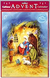 Jesus in the stable Religious Advent Calendar With Envelope