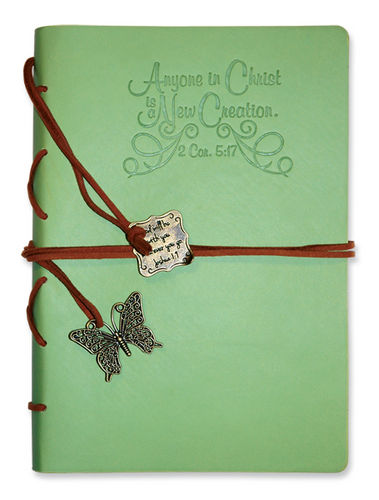 Journal - Faux Leather. New Creation.green