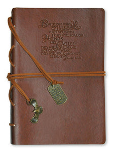 Journal - Faux Leather.wings Like Eagles.