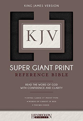 KJV Super Giant Print Bible Index