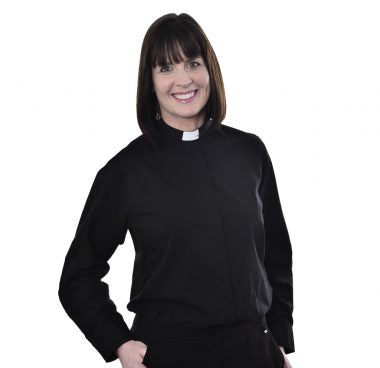 Womens Clerical Long Sleeve Shirt