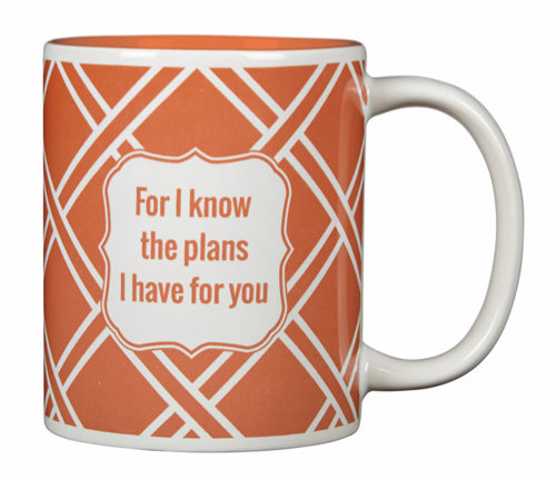 For I know the plan Mug.