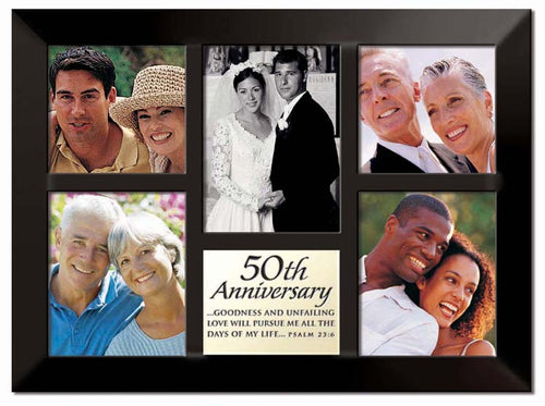 Photo Frame - Multi-panel - 25th Anniversary 10.5in X 14.25in