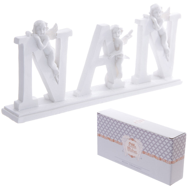 NAN Cherub Letters on Plinth