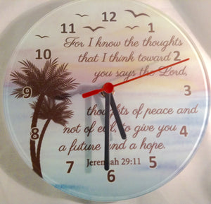 WALL CLOCK I KNOW MY PLANS