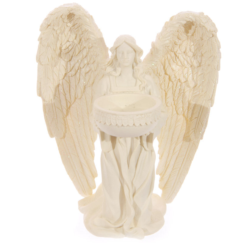 Kneeling Angel Figurine Tea Light Holder 18cm