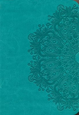 NKJV Large Print Compact Reference Bible, Teal LeatherTouch