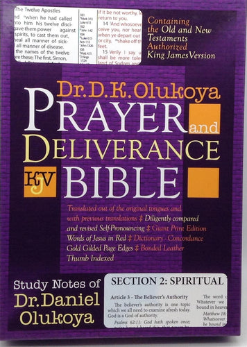 Prayer and Deliverance Bible Small