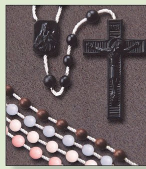 Plastic Rosary - Corded -