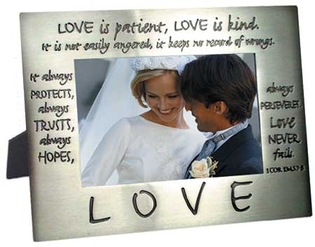Photo Frame - Metal - Love