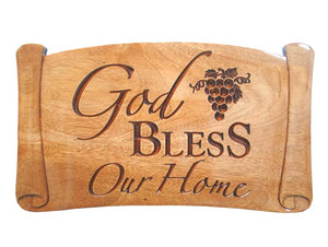 Plaque - God Bless Our Home - 8In X 13.75In X 0.6In