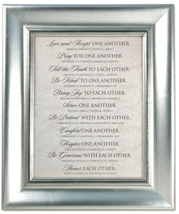 Plaque - Love One Another Series - Wedding - 21.5In X 18.5In