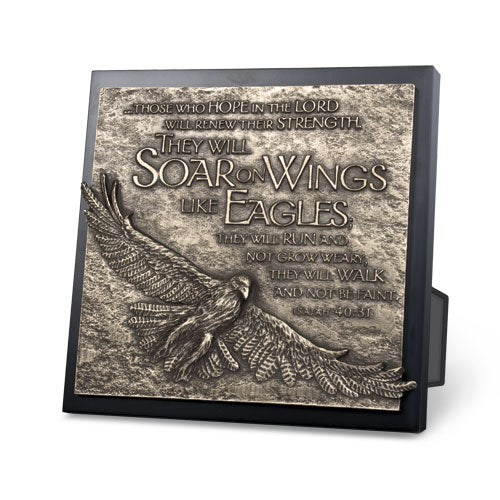 Plaque - Sculpture - Moment Of Faith Collection - Eagle 8.75In X 8.75In