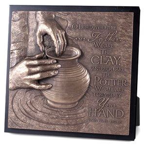 Plaque - Sculpture - The Potter Isaiah 64:8 8.75In X 8.75In