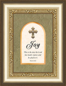 Proclaim The Cross Series - Plaque - Joy - 5.5In X 7In