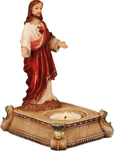 Resin Candle holder/Sacred Heart