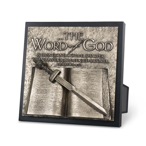 Plaque - Moments Of Faith Series - Sculpture - Word Of God - 8.75in X 8.75in