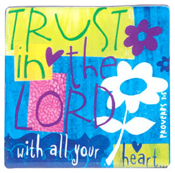 Colour Block Series - Magnet - Trust In The Lord - Proverbs 3:5 - 2.5in X 2.5in