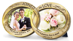 Photo Frame - Joined In Love - Double Wedding Rings