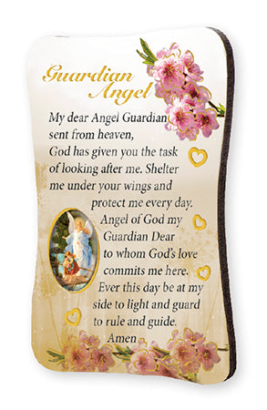 Wood Plaque/Fridge Magnet/Guardian Angel
