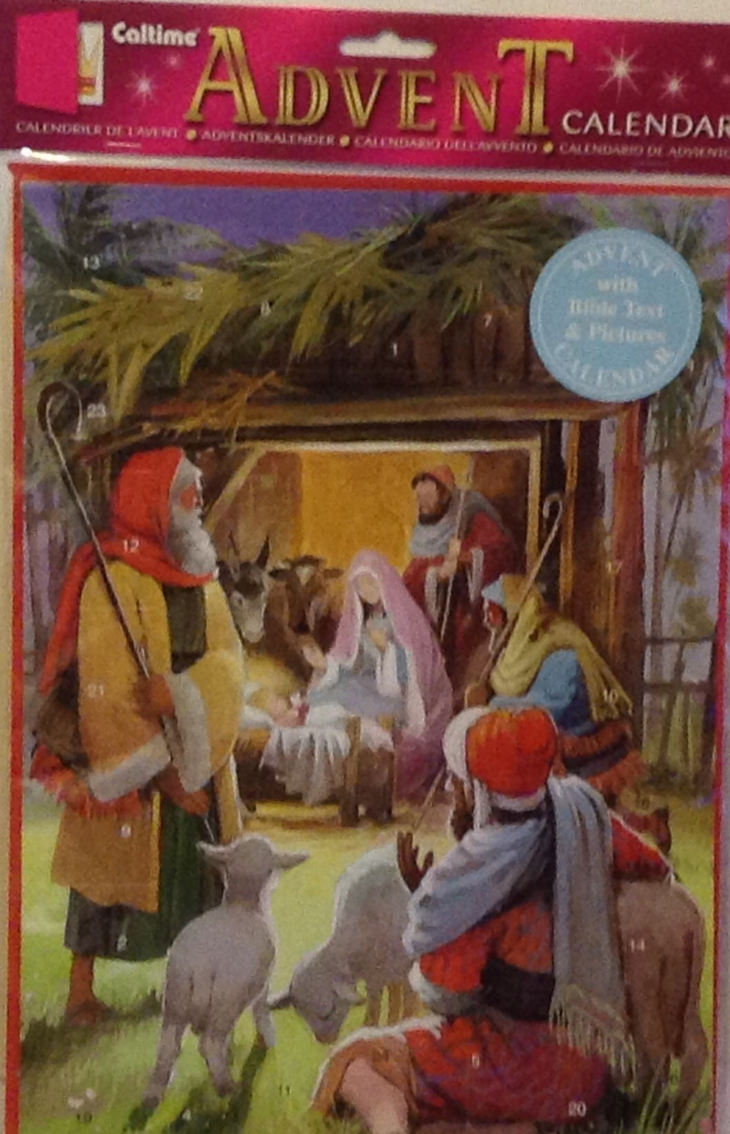 ADVENT CALENDAR SHEPHERDSAT THE STABLE S822