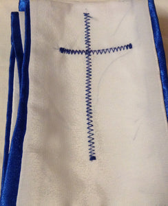 WHITE AND BLUE AMURE 1 CROSS