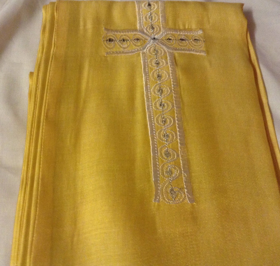 YELLOW AMURE WITH 1 CROSS